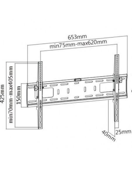 SOPORTE DE PARED TRAULUX PARA MONITOR CON TILT 600x400 mm