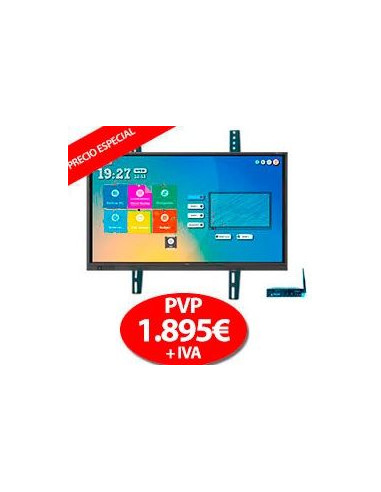 "Pack Display Interactivo Newline RS 65"" + OPS + Soporte"