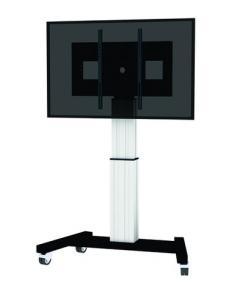 "Newstar PLASMA-M2500SILVER soporte de pie para pantalla plana 2,54 m (100"") Soporte de suelo con ruedas para pantalla plana Negr"