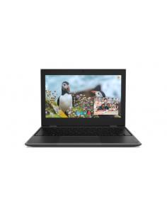 "Lenovo 100e 2nd Gen Negro Portátil 29,5 cm (11.6"") 1366 x 768 Pixeles Intel® Celeron® 4 GB LPDDR4-SDRAM 64 GB eMMC Windows 10 Pr"