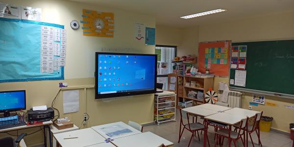 Monitores Interactivos de 65 y 75 pulgadas para el colegio Los Olivos de Las Rozas